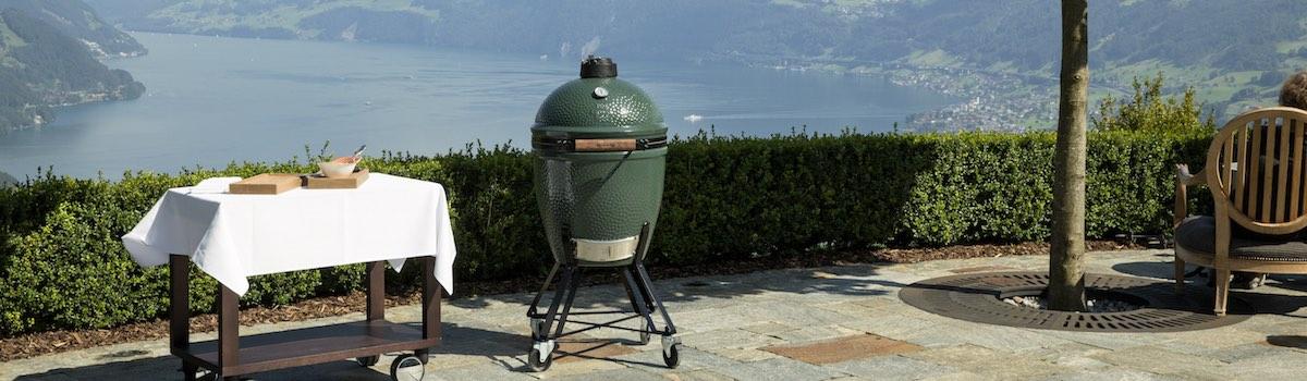 Cocina de exterior Big Green Egg para expertos cocineros