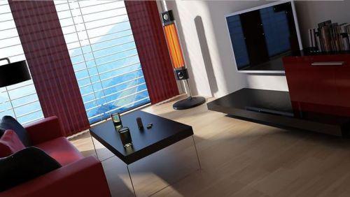 Calefactor Veito CH1800XE infrarrojo portátil para salón, cocina, baño