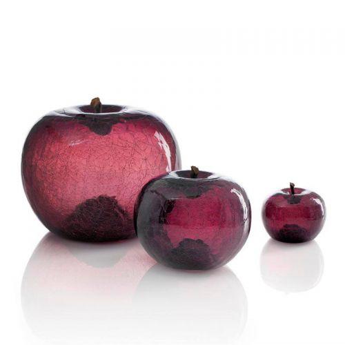 Bull&Stein Transparent crackled glass apple